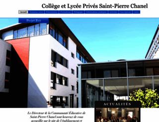 saint-pierre-chanel.fr screenshot
