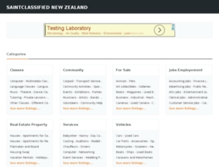 saintclassified.co.nz screenshot