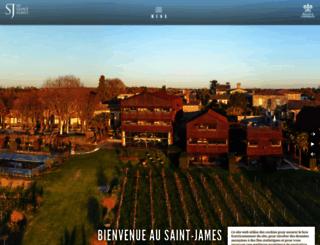 saintjames-bouliac.com screenshot