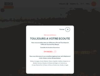 saintjeanpieddeport-paysbasque-tourisme.com screenshot