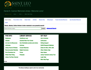 saintleo.libguides.com screenshot