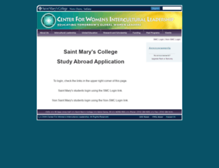 saintmarys.studioabroad.com screenshot