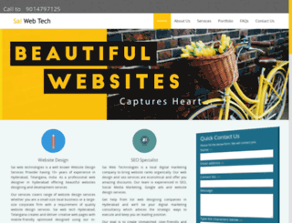 saiwebtech.co.in screenshot