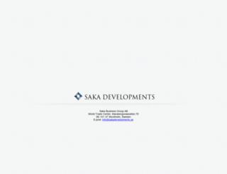 sakadevelopments.se screenshot