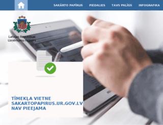 sakartopapirus.ur.gov.lv screenshot