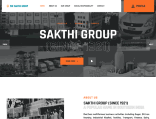 sakthigroup.com screenshot