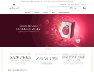 sakurabeauty.com screenshot