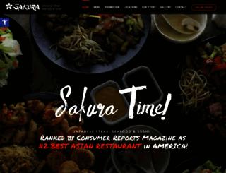 sakurasteakhouse.com screenshot