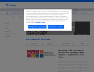saladeprensa.telefonica.es screenshot