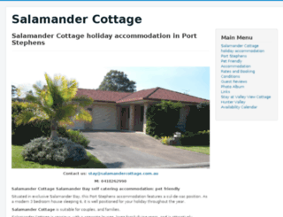 salamandercottage.com.au screenshot