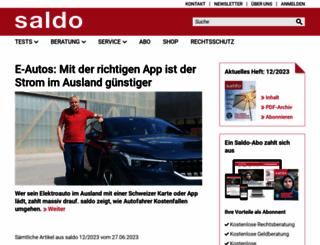 saldo.ch screenshot