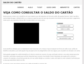 saldodocartao.com screenshot