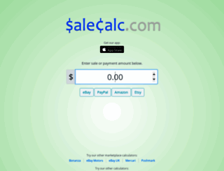 salecalc.com screenshot