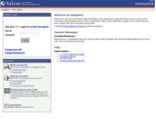 salem.collegescheduler.com screenshot