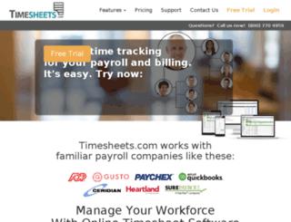 salesforce.timeclockonline.com screenshot