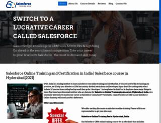 salesforcetrainingindia.com screenshot