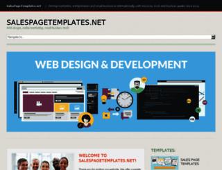 salespagetemplates.net screenshot