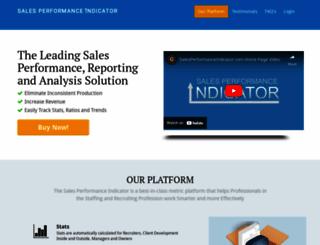 salesperformanceindicator.com screenshot