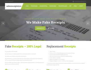 salesreceiptstore.com screenshot