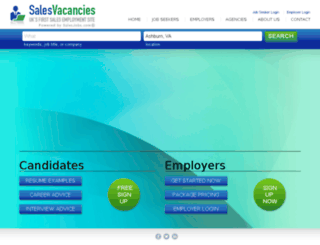 salesvacancies.com screenshot