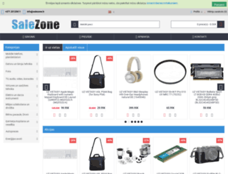 salezone.lv screenshot