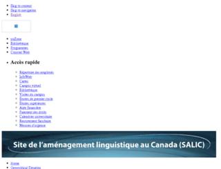 salic.uottawa.ca screenshot