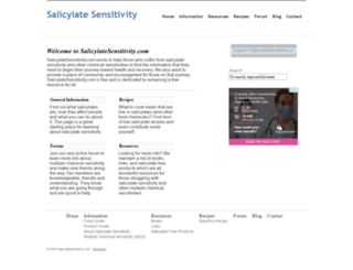 salicylatesensitivity.com screenshot