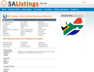 salistings.co.za screenshot