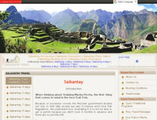 salkantaytreks.com screenshot