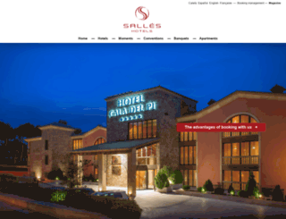 salleshotels.com screenshot