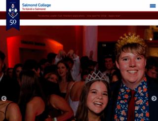 salmondcollege.ac.nz screenshot