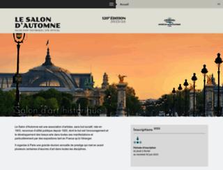 salon-automne.com screenshot