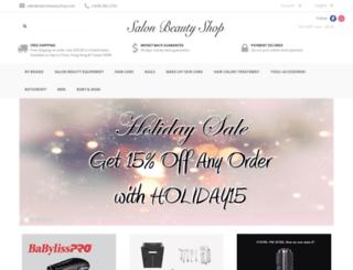 salonbeautyshop.com screenshot