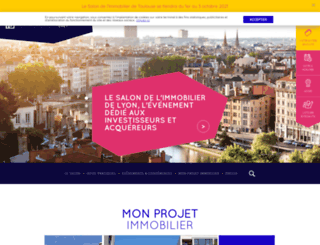salonimmobilierlyon.com screenshot