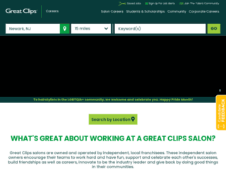 salonjobs.greatclips.com screenshot