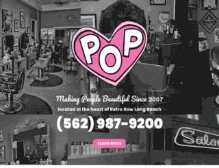 salonpopandbarbershop.com screenshot