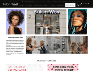salonwestnyc.com screenshot