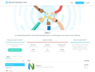 salt.bountysource.com screenshot