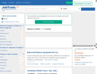 saltillo.jobtonic.mx screenshot