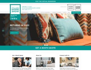 saltlakecityhomeshow.com screenshot