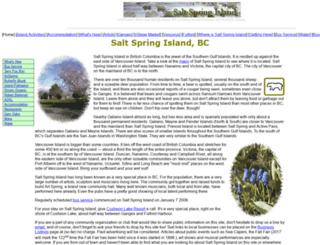 saltspringisland.org screenshot