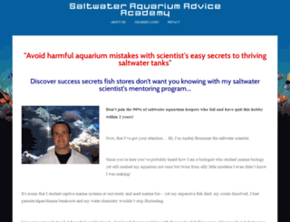 saltwater-aquarium-advice.com screenshot