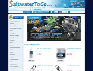 saltwatertogo.com screenshot
