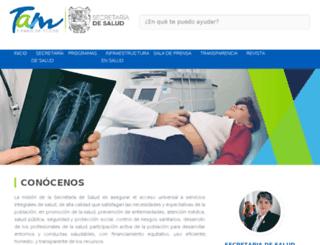 salud.tamaulipas.gob.mx screenshot