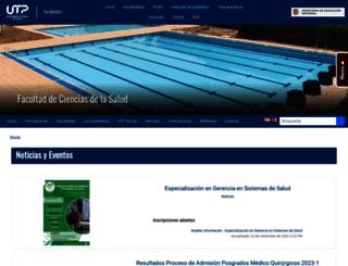salud.utp.edu.co screenshot