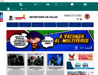 saludcapital.gov.co screenshot