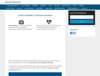 saludespalda.com screenshot