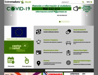saludextremadura.com screenshot