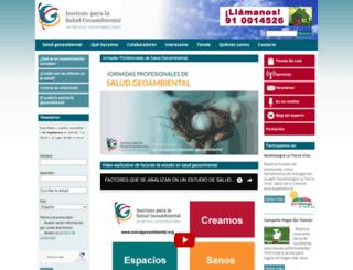 saludgeoambiental.org screenshot