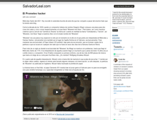 salvadorleal.com screenshot